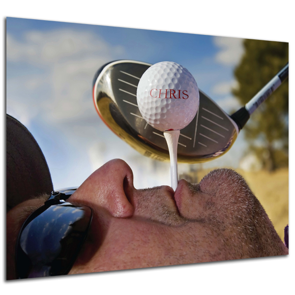 Personalised Golf Tee Poster Black Frame - Golf Gifts