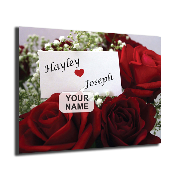 Personalised Poster Roses Design Poster Only