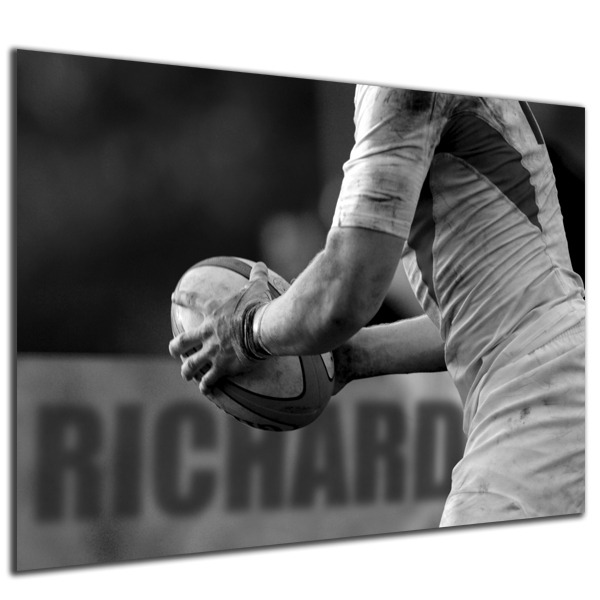 Personalised Rugby Poster Black Frame