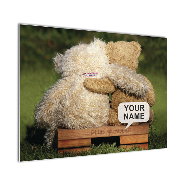 Personalised Poster Teddy Bear Design - Black Frame - Teddy Bear Gifts