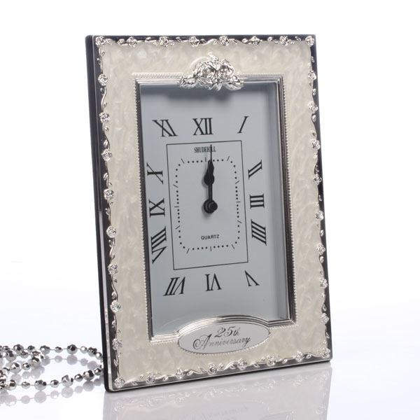 Gift Experiences For Wedding Anniversary : 25th Silver Wedding Anniversary Clock The Gift Experience .