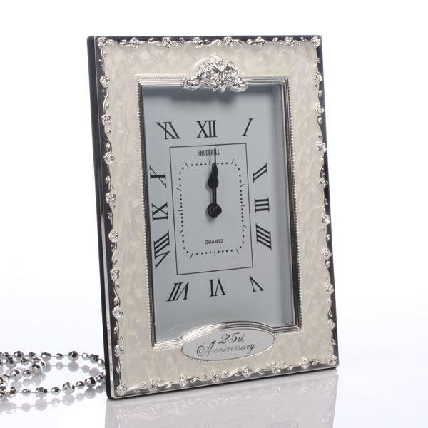 25th Wedding Gift Ideas: 25th Silver Wedding Anniversary Clock
