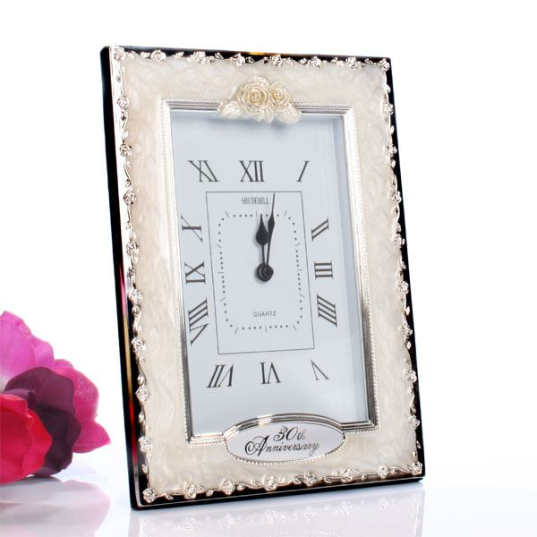Pearl Wedding Anniversary Gift Ideas Uk : 30th Pearl Wedding Anniversary Quartz Clock The Gift Experience