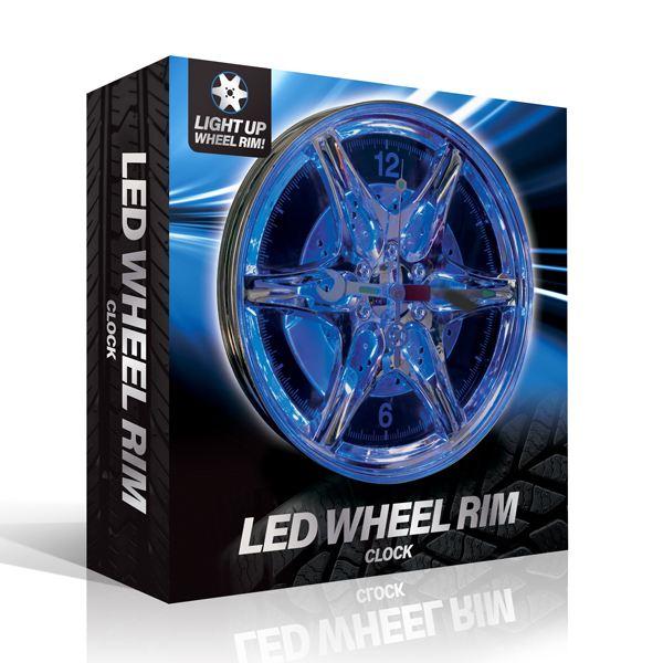 Neon Wheel Rim Wall Clock The Gift Experience