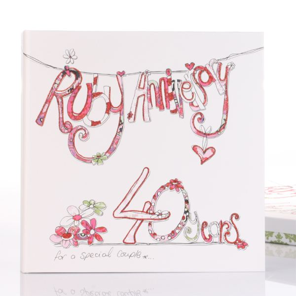 Special Gift For 40th Wedding Anniversary : 40th Anniversary Scrapbook