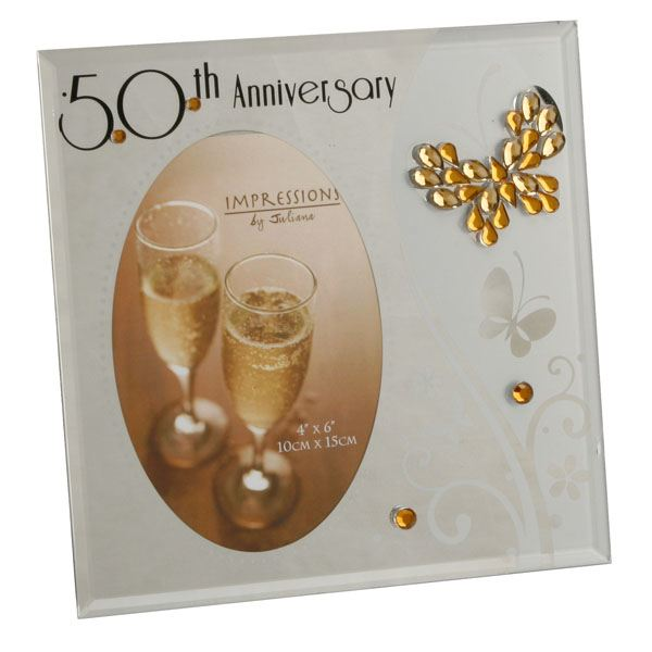 50th Anniversary Glass Photo Frame The Gift Experience