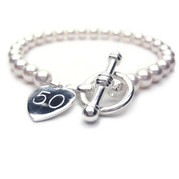 50th Birthday Personalised Harmony Bracelet