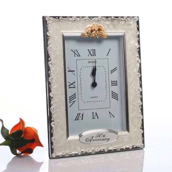 Gift Experiences For Wedding Anniversary : 50th Golden Wedding Anniversary Quartz Clock The Gift Experience