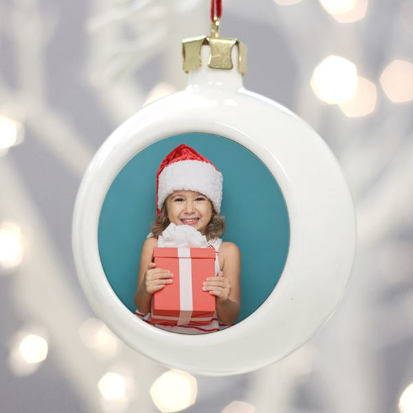 Personalised Photo Christmas Bauble | The Gift Experience