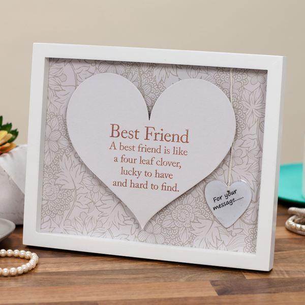 Best Friend Sentiment Heart Art Frame | The Gift Experience