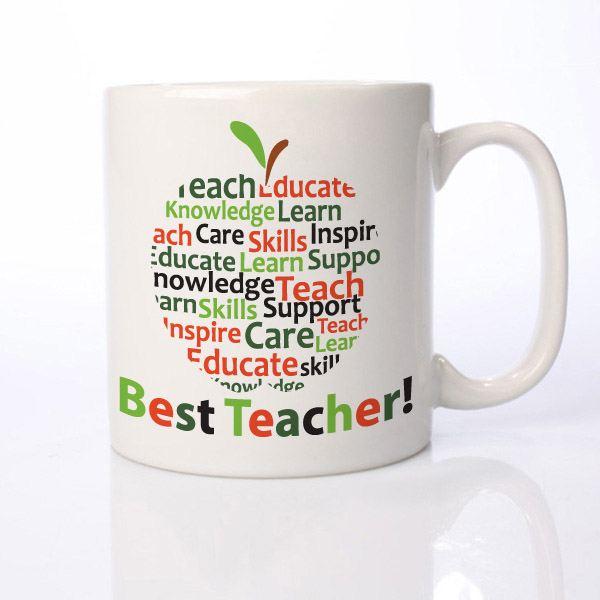 Personalised Teacher Mug - Apple Of Words