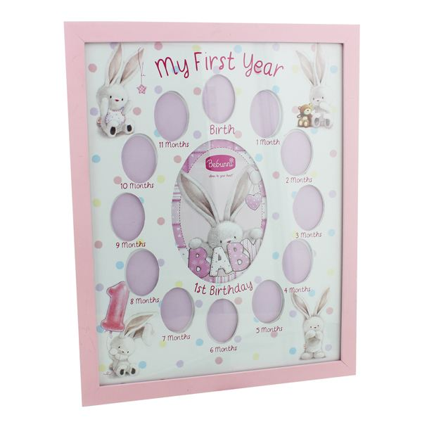My First Year Photo Frame - Baby Girl   The Gift Experience