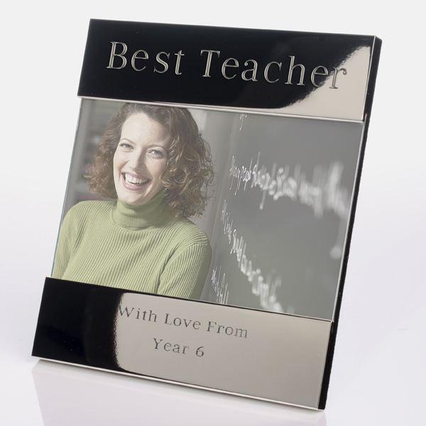 Engraved Best Teacher Photo Frame