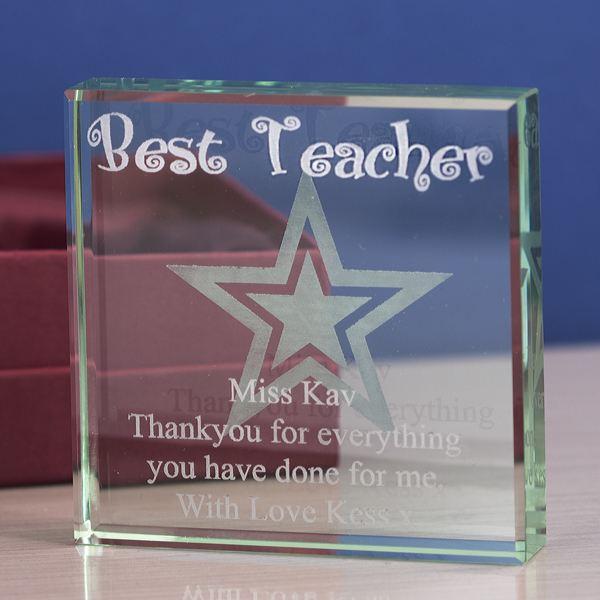 Best Teacher Personalised Glass Keepsake