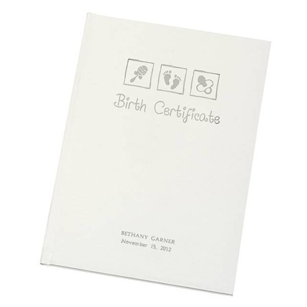 Personalised Birth Certificate Holder | The Gift Experience