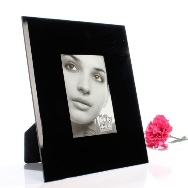 black glass photo frame the gift experience