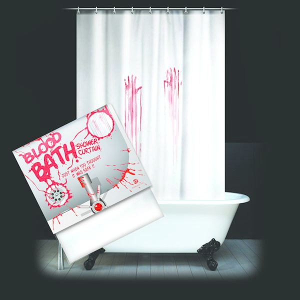 blood bath shower curtain shower curtains the gift