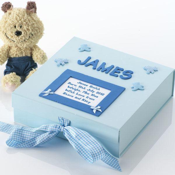 Keepsake boxes the gift experience handmade personalised baby memory box negle Gallery