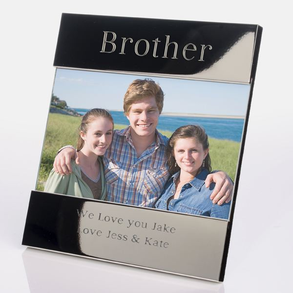 Engraved Brother Photo Frame | The Gift Experience