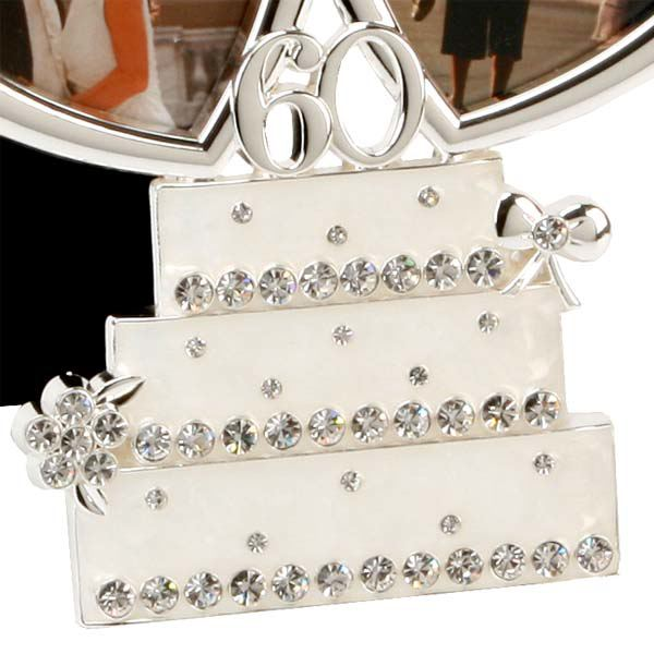 Diamond Wedding Anniversary Gift Ideas Uk : Diamond Anniversary Wedding Cake Photo Frame The Gift Experience