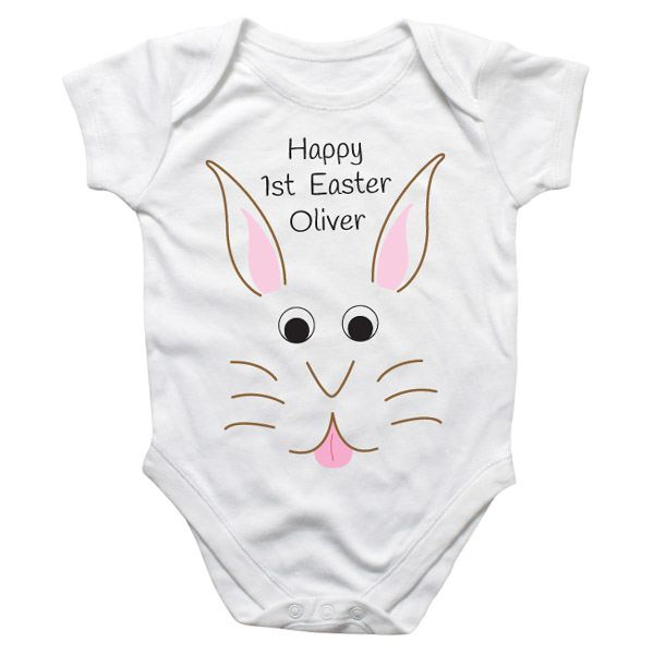 Easter bunny personalised baby grow the gift experience easter bunny personalised baby grow negle Gallery
