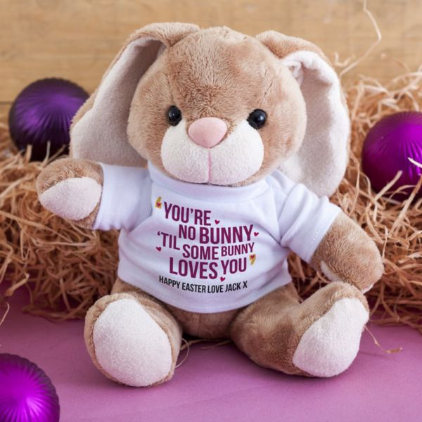 Easter gifts the gift experience personalised youre no bunny til some bunny loves you cuddly rabbit negle