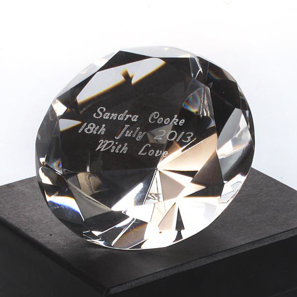 Engraved Crystal Paperweight The Gift Experience