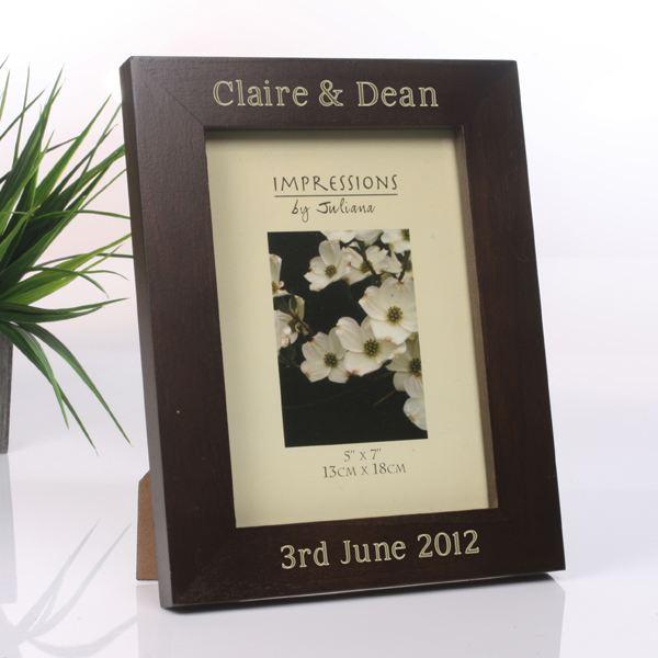 engraved wooden frame