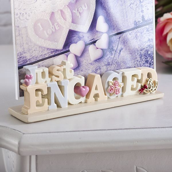 Lettering Photo Frame - Just Engaged | The Gift Experience