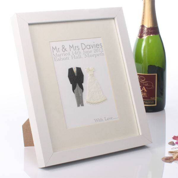 Wedding Gift Experience Days : Personalised Handmade Wedding Day Print The Gift Experience