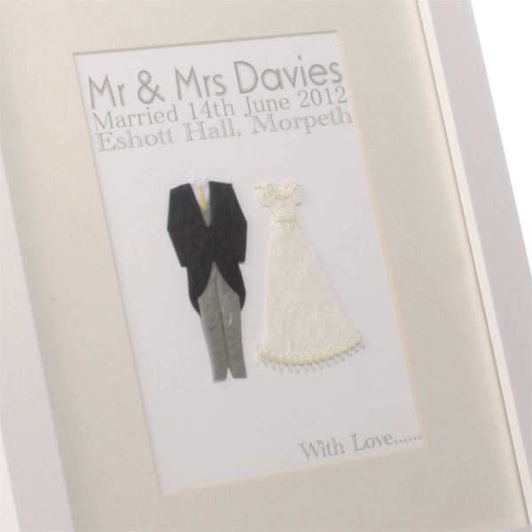 Personalised Handmade Wedding Day Print The Gift Experience