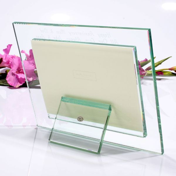 luxury personalised glass photo frame the gift experience