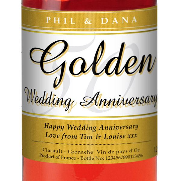 Golden Wedding Anniversary Gift Experiences : ... Golden Wedding Anniversary Rose Wine The Gift Experience
