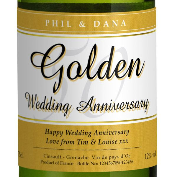 Golden Wedding Anniversary Gift Experiences : ... Golden Wedding Anniversary White Wine The Gift Experience