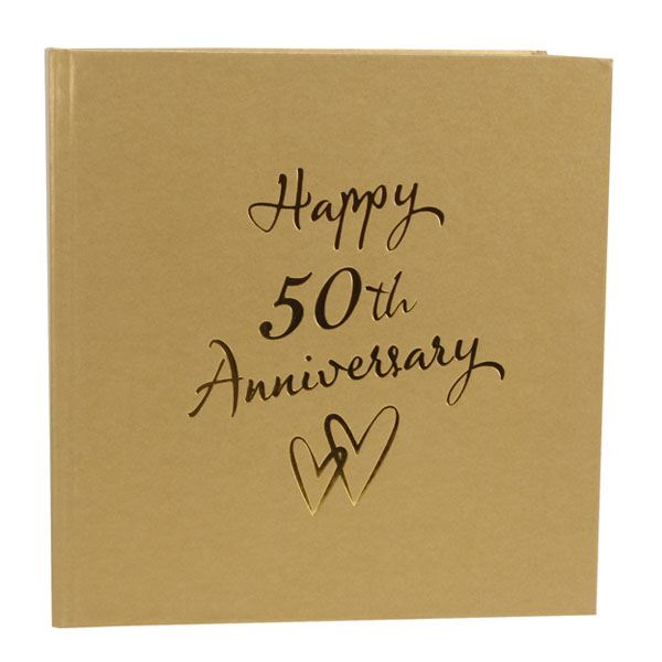 Golden Wedding Anniversary Gift Experiences : Golden Anniversary Photo Album