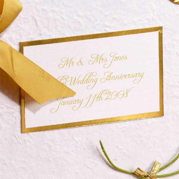 Golden Wedding Anniversary Gift Experiences : ... Golden Wedding Anniversary Photo Album The Gift Experience
