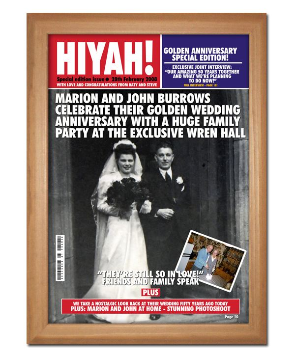 Golden Wedding Anniversary Gift Experiences : ... Golden Wedding Anniversary Magazine Cover The Gift Experience