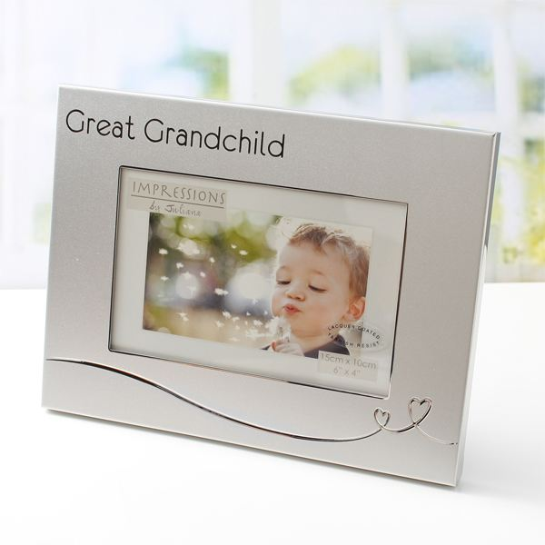 Silver Plated Great Grandchild Photo Frame | The Gift Experience