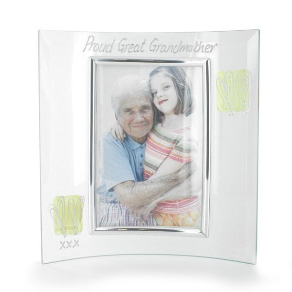 great grandmother glass photo frame