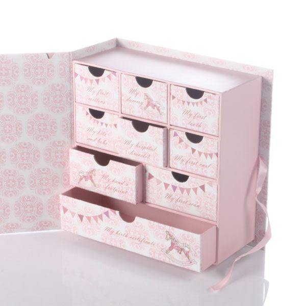 Baby Gift Keepsake Box : Baby girl keepsake box with drawers the gift experience