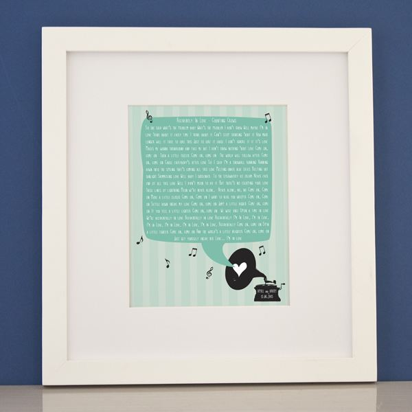 Personalised Our Song Framed Print | The Gift Experience