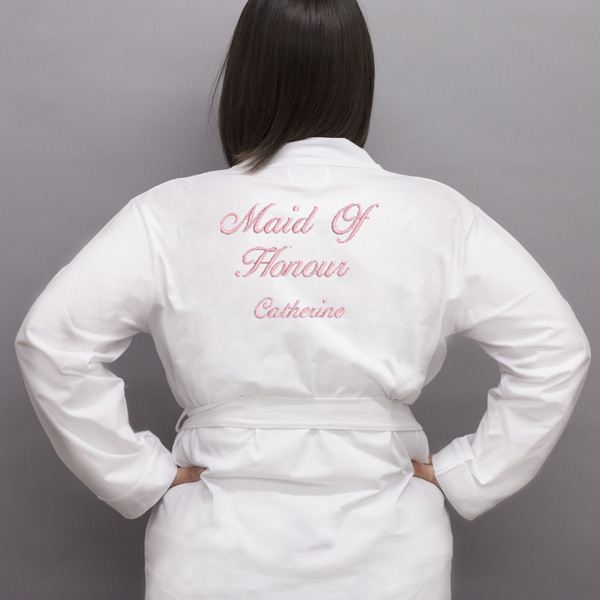 Personalised Embroidered Maid Of Honour Dressing Gown | The Gift ...