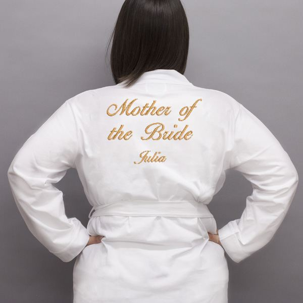 Personalised Embroidered Mother Of The Bride Dressing Gown | The ...