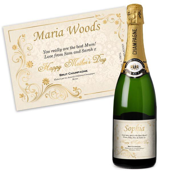 mother s day personalised champagne the gift experience