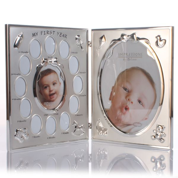 my first year double photo frame - My First Year Picture Frame