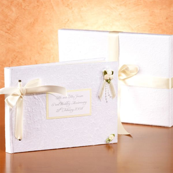Gift Experiences For Wedding Anniversary : ... Pearl Wedding Anniversary Photo Album The Gift Experience