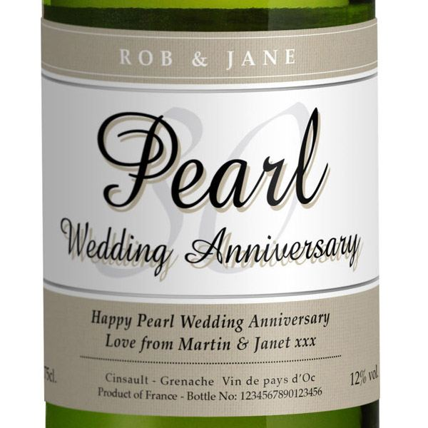 Pearl Wedding Anniversary Gift Ideas Uk : ... Pearl Wedding Anniversary White Wine The Gift Experience
