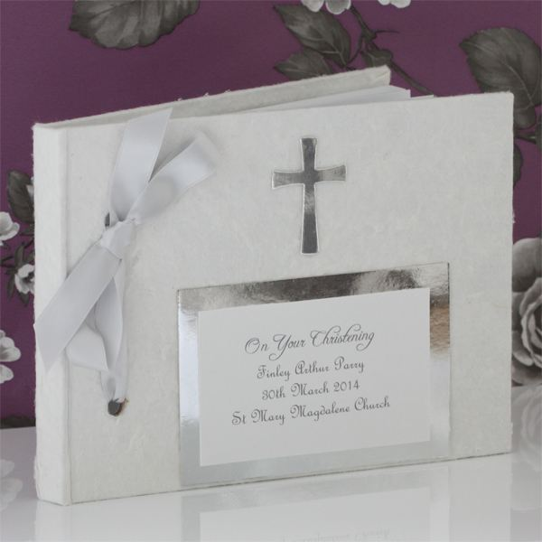 personalised christening photo album the gift experience. Black Bedroom Furniture Sets. Home Design Ideas