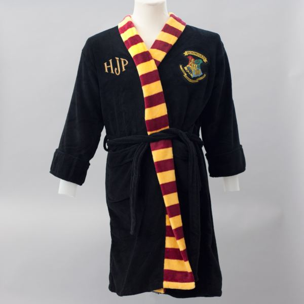 Personalised Embroidered Harry Potter Black Robe With Scarf | The ...