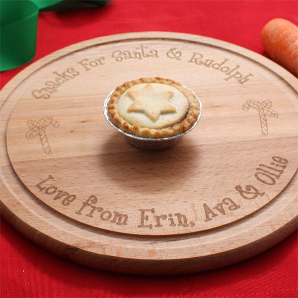 Personalised Wooden Santa Plate & Personalised Wooden Santa Plate | The Gift Experience